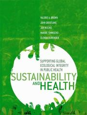 Cover of: Sustainability and Health