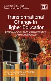 Cover of: Transformational Change in Higher Education