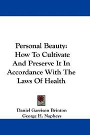 Cover of: Personal Beauty