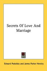 Cover of: Secrets Of Love And Marriage
