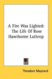 Cover of: A Fire Was Lighted