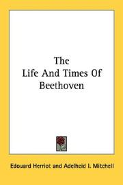 Cover of: The life and times of Beethoven
