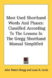Cover of: Most-used shorthand words and phrases