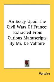 Cover of: An essay upon the civil wars of France