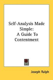 Cover of: Self-Analysis Made Simple