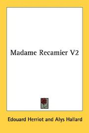 Cover of: Madame Recamier V2