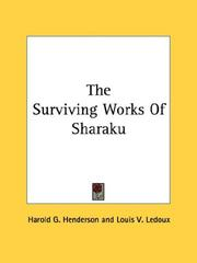 Cover of: The Surviving Works Of Sharaku