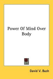Cover of: Power Of Mind Over Body