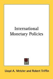 Cover of: International Monetary Policies