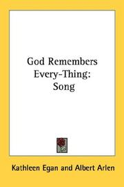 Cover of: God Remembers Every-Thing