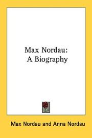 Cover of: Max Nordau