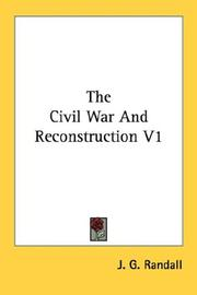 Cover of: The Civil War And Reconstruction V1