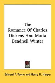 Cover of: The Romance Of Charles Dickens And Maria Beadnell Winter