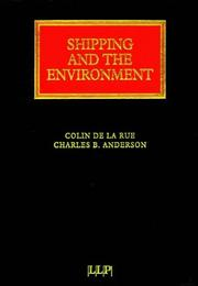 Cover of: Shipping and the Environment