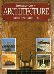 Cover of: Introduction to Architecture