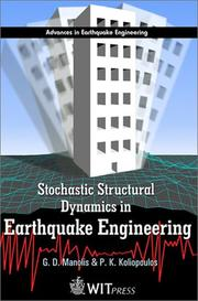 Cover of: Stochastic Structural Dynamics in Earthquake Engineering (Advances in Earthquake Engineering, Vol. 8)
