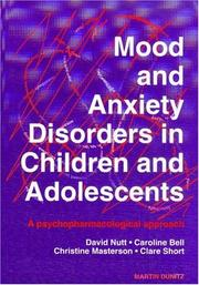 Cover of: Mood and Anxiety Disorders in Children and Adolescents