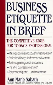 Cover of: Business etiquette in brief