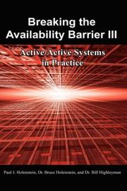 Cover of: Breaking the Availability Barrier III
