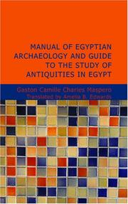Cover of: Manual of Egyptian Archaeology and Guide to the Study of Antiquities in Egypt