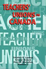 Cover of: Teachers' Unions in Canada