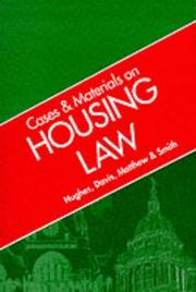 Cover of: Cases and Materials on Housing Law (Cases & Materials)