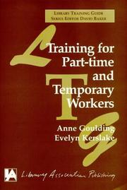 Cover of: Training for Part-time and Temporary Workers (Library Training Guide)