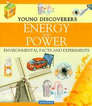 Cover of: Energy and Power (Young Discoverers)