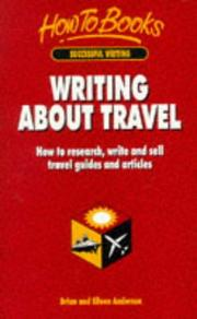 Cover of: Writing About Travel