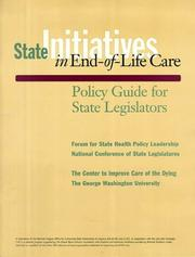 Cover of: State Initiatives in End-Of-Life Care