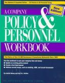 Cover of: A Company Policy and Personnel Workbook (Psi Successful Business Library)