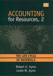 Cover of: Accounting for Resources, 2
