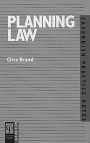Cover of: Planning Law (Practice Notes Series)