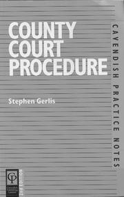 Cover of: County Court Procedure (Practice Notes Series)