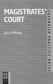 Cover of: Magistrates' Court (Practice Notes Series)