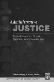 Cover of: Administrative Justice