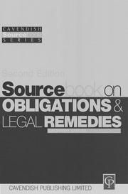 Cover of: Obligations and Remedies (Sourcebook)