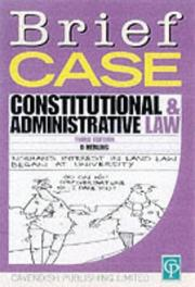 Cover of: Constitutional & Adminastrative Law (Briefcase)