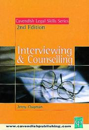Cover of: Interviewing and Counselling (Legal Skills Series)