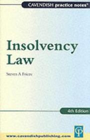 Cover of: Insolvency Law (Practice Notes Series)