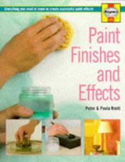 Cover of: Paint and Paint Finishes (Haynes Home Decorating)