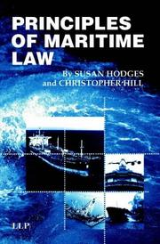 Cover of: Principles of Maritime Law