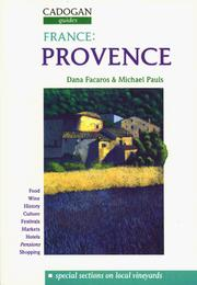 Cover of: France Provence (Cagogan Guides)