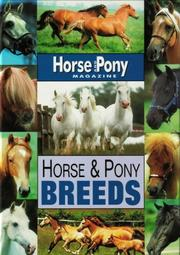 "Cover of: Horse and Pony Breeds (""Horse & Pony"" Magazine Library)"