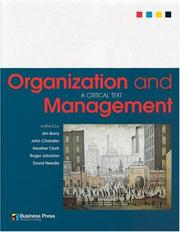 Cover of: Organization and Management