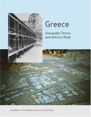 Cover of: Greece: Modern Architectures in History (Reaktion Books - Modern Architectures in History)