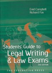 Cover of: Student's Guide to Legal Writing and Law Exams