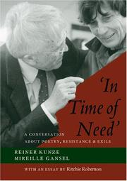 Cover of: 'In Time of Need'
