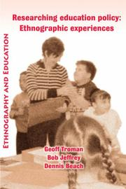 Cover of: Researching Education Policy
