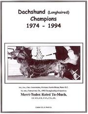 Cover of: Dachshund (Longhaired) Champions, 1974-1994